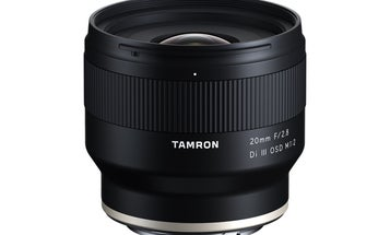 Tamron's new 20mm F/2.8 lens for Sony cameras has a minimum focusing distance of just 4.3 inches