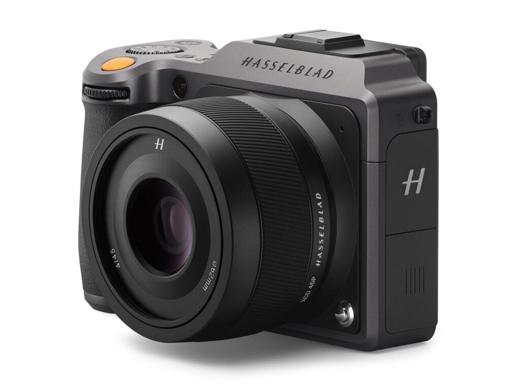 Hasselblad XCD 4/45P digital medium format lens on the X1D camera