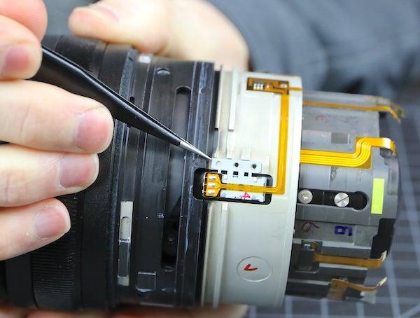 Tearing down lense