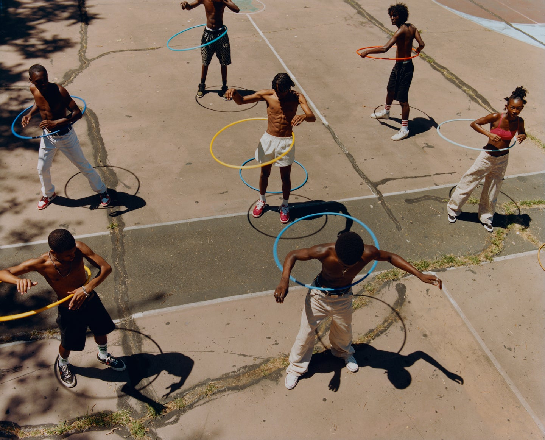 Untitled (Group Hula Hoop), 2019.