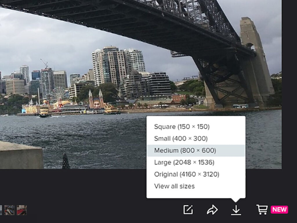Flickr file quality picker