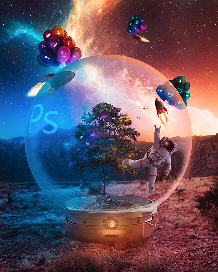 Adobe Photoshop 30th Birthday Image