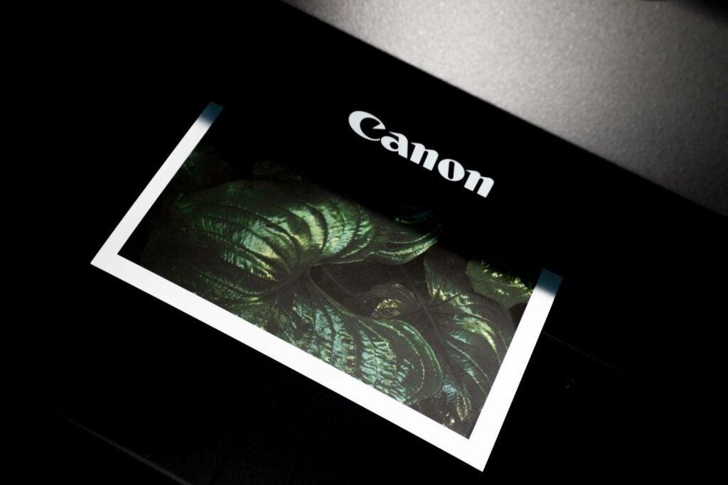 Printer printing photo