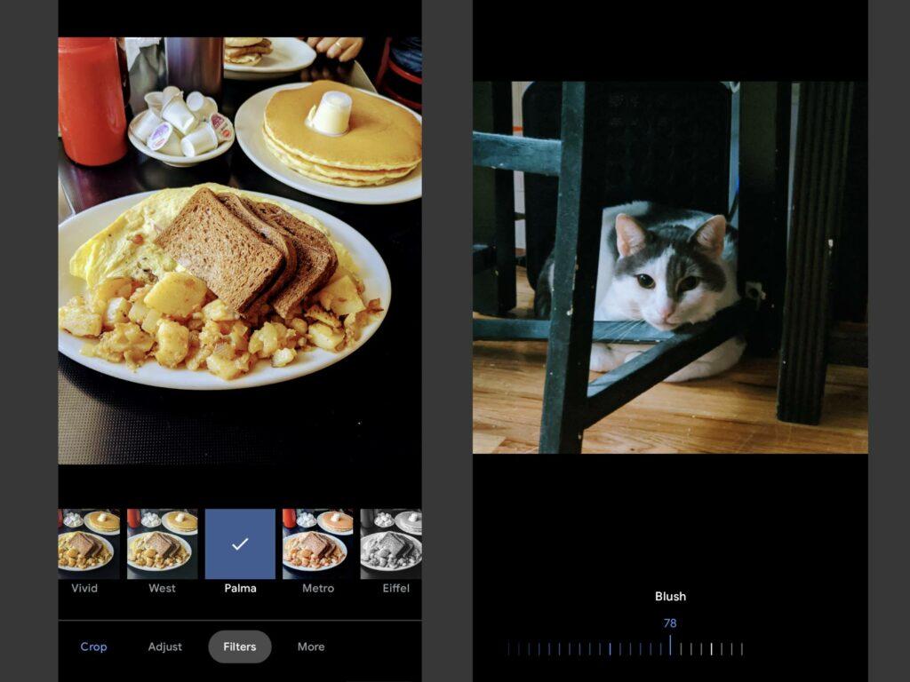 Screenshots of Google Photos