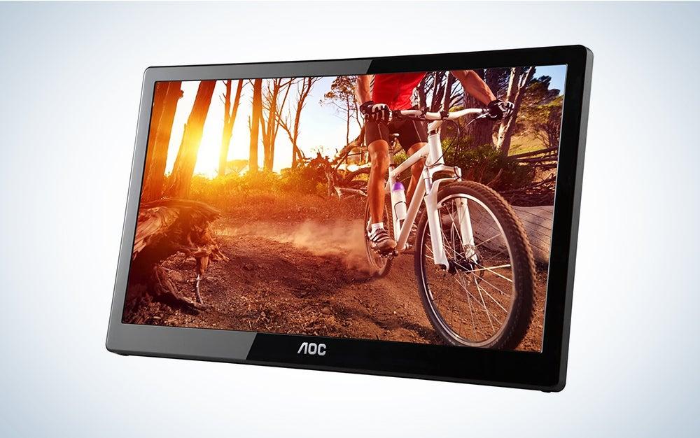 AOC e1659Fwu 15.6-Inch Ultra Slim 1366x768 Res 200 cd/m2 Brightness USB 3.0-Powered Portable LED Monitor w/ Case