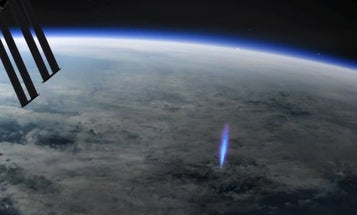 Rare 'blue jet' lightning spotted and photographed from space