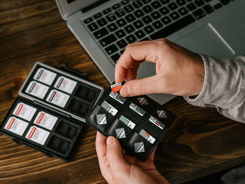 Samsung microSD card.