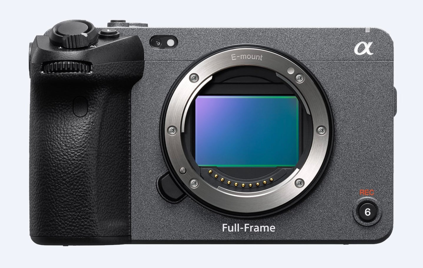 Sony FX3 cinema camera front without a lens