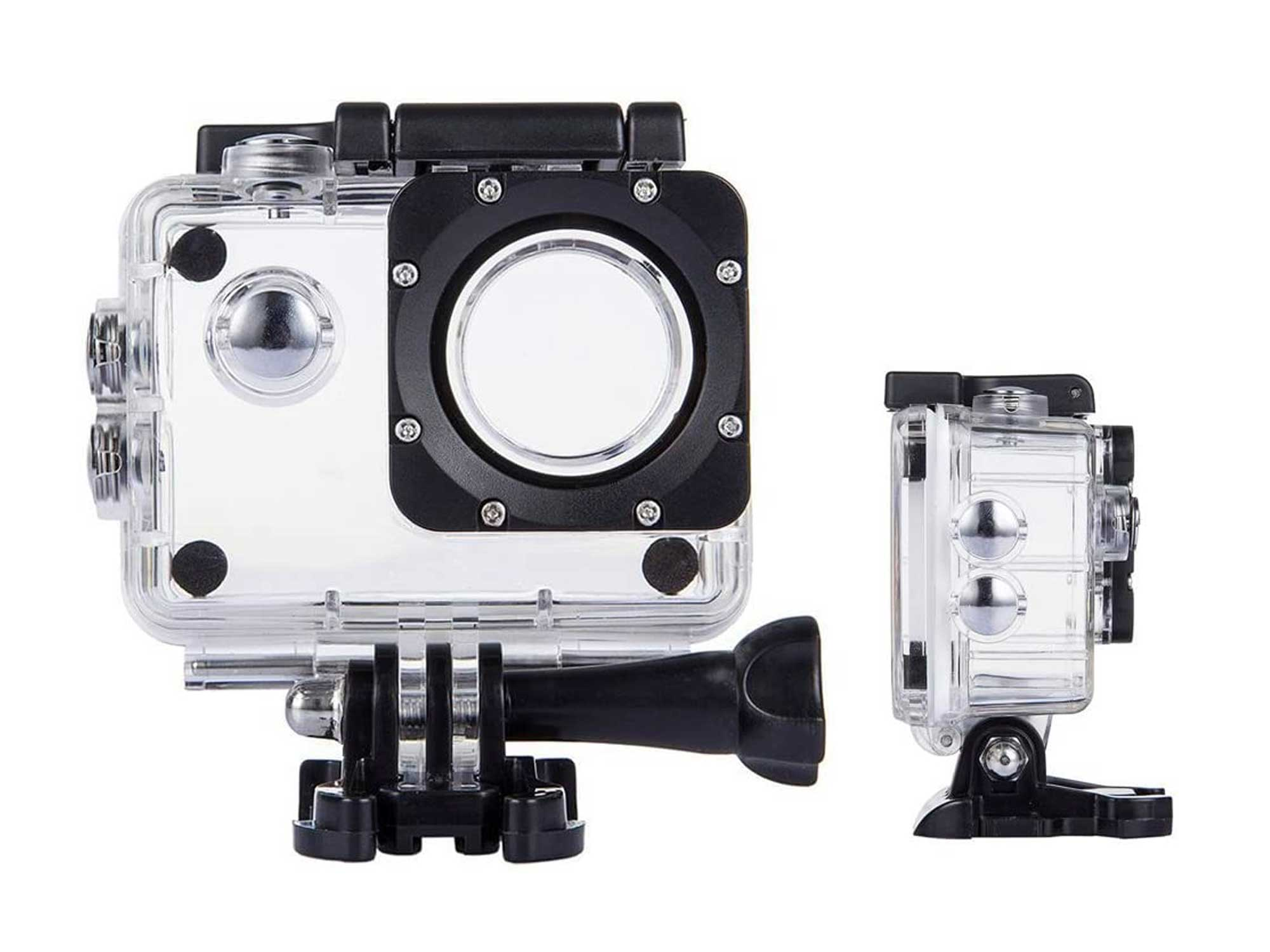 TEKCAM Action Camera Waterproof Case Underwater Protective Housing Case Compatible with AKASO EK5000/ DBPOWER EX5000/ WiMiUS Q1Q2/ EKEN H9R/ Campark X15 V30 Sports Camera