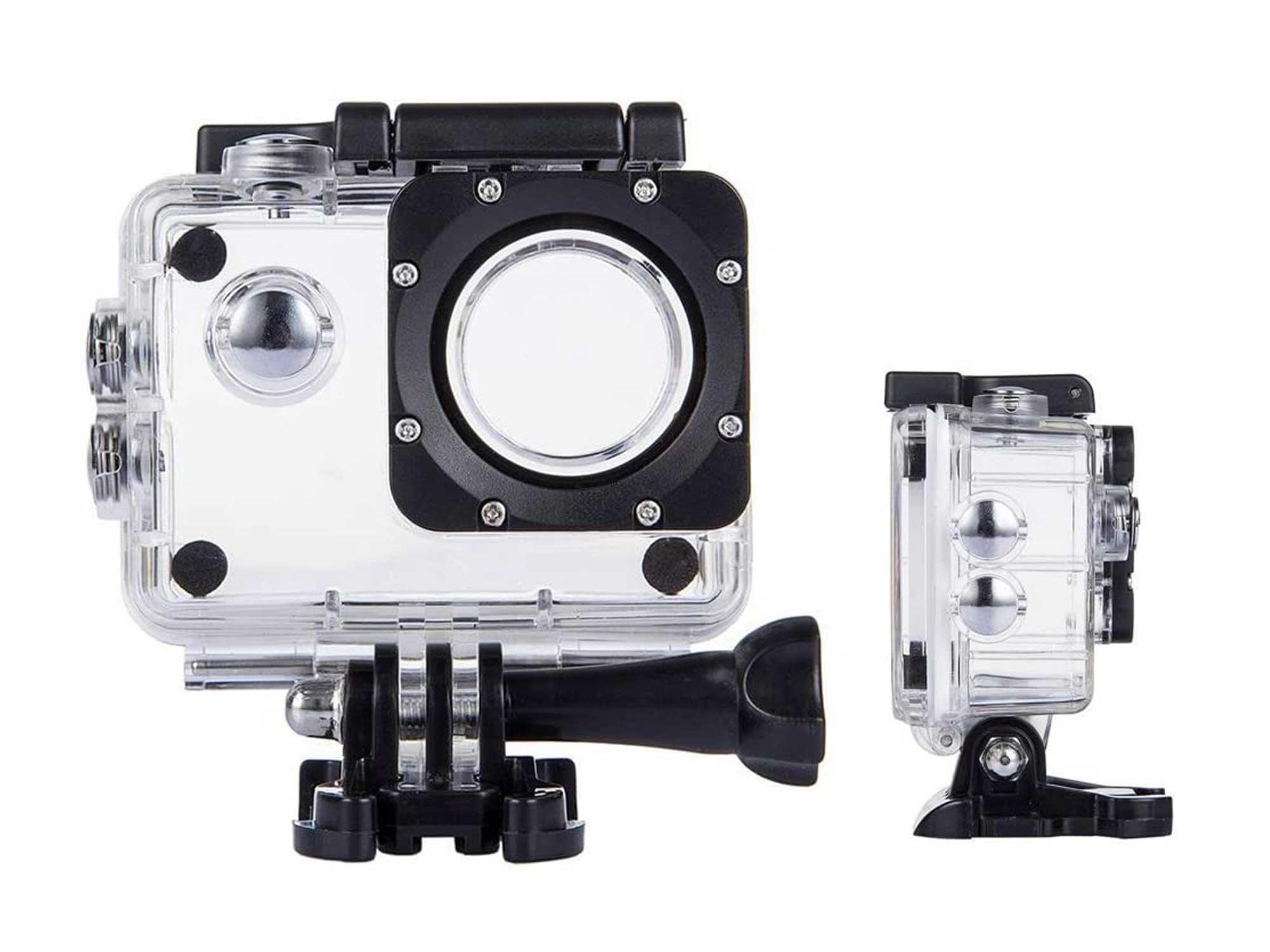 TEKCAM Action Camera Waterproof Case Underwater Protective Housing Case Compatible with AKASO EK5000/ DBPOWER EX5000/ WiMiUS Q1Q2/ EKEN H9R/ Campark X15 V30 Sports Camera