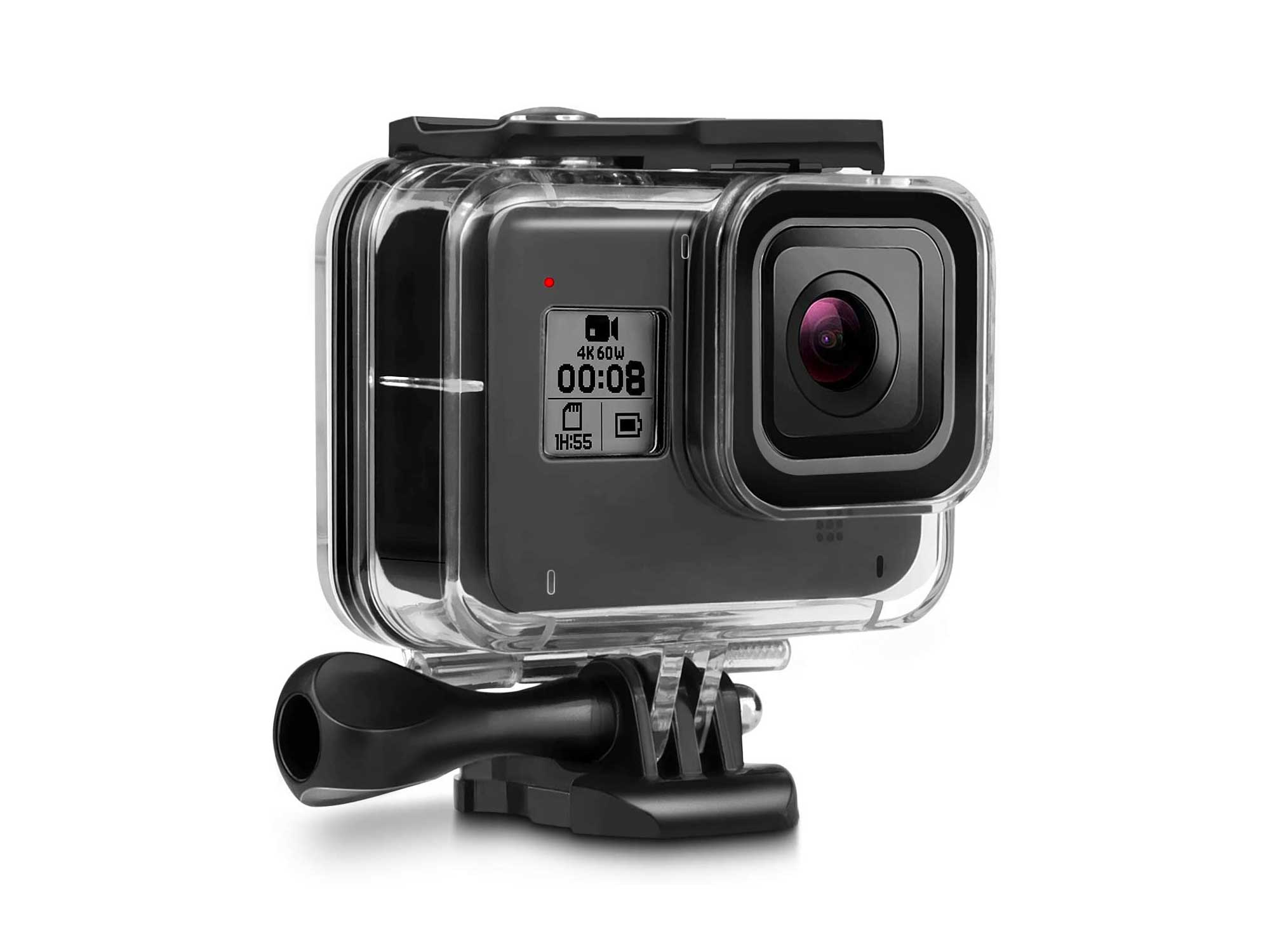 Deyard 60M Waterproof Case for GoPro Hero 8 Black Underwater Waterproof Protective Housing Case for GoPro Action Camera with Quick Release Mount and Thumbscrew