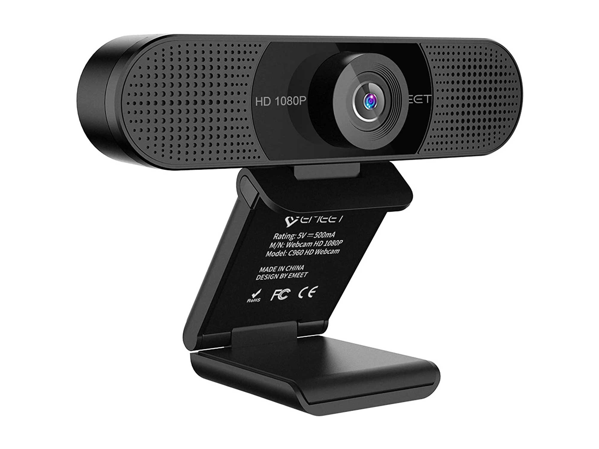 1080P Webcam with Microphone, C960 Web Camera, 2 Mics Streaming Webcam, 90°View Computer Camera, Plug and Play USB Webcam