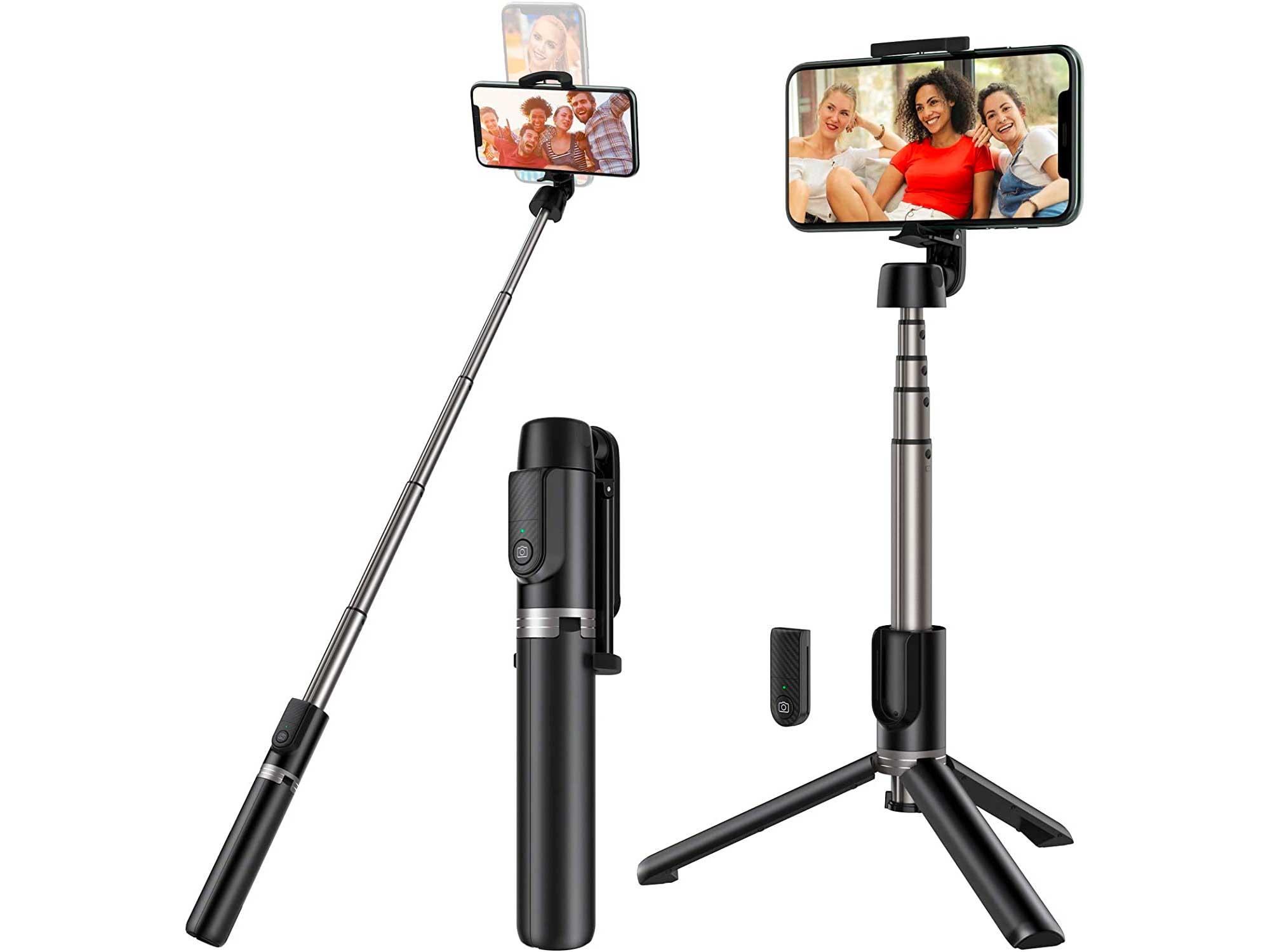 Yoozon Selfie Stick Tripod Bluetooth,Extendable Phone Tripod Selfie Stick with Wireless Remote Shutter