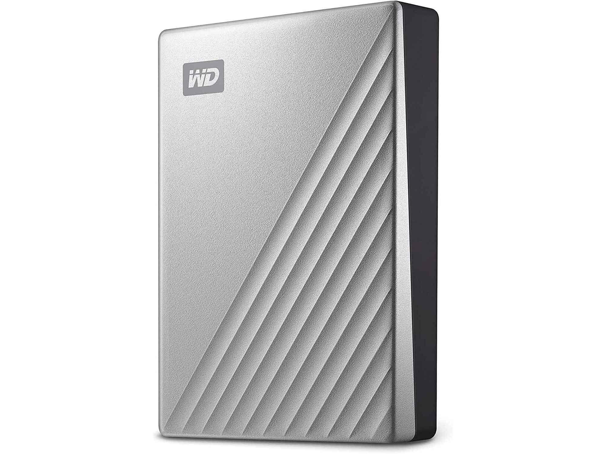 WD 4TB My Passport Ultra for Mac Silver Portable External Hard Drive