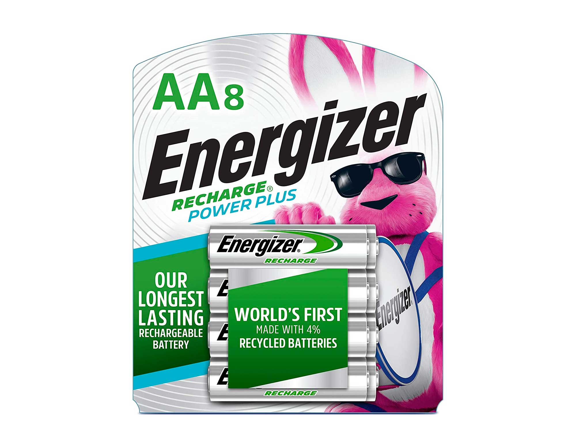 Energizer Rechargeable AA Batteries, 2300 mAh, Pre-Charged, 8 count (Recharge Power Plus)