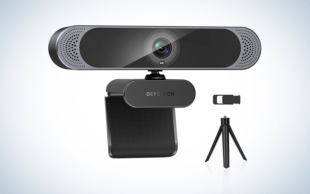 DEPSTECH 4K Webcam with microphone for streaming