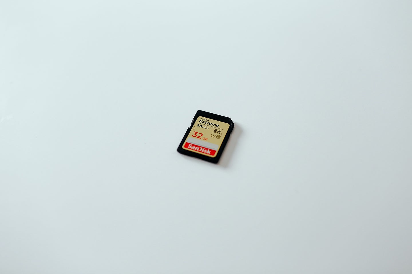 Fastest sd card on a white surface