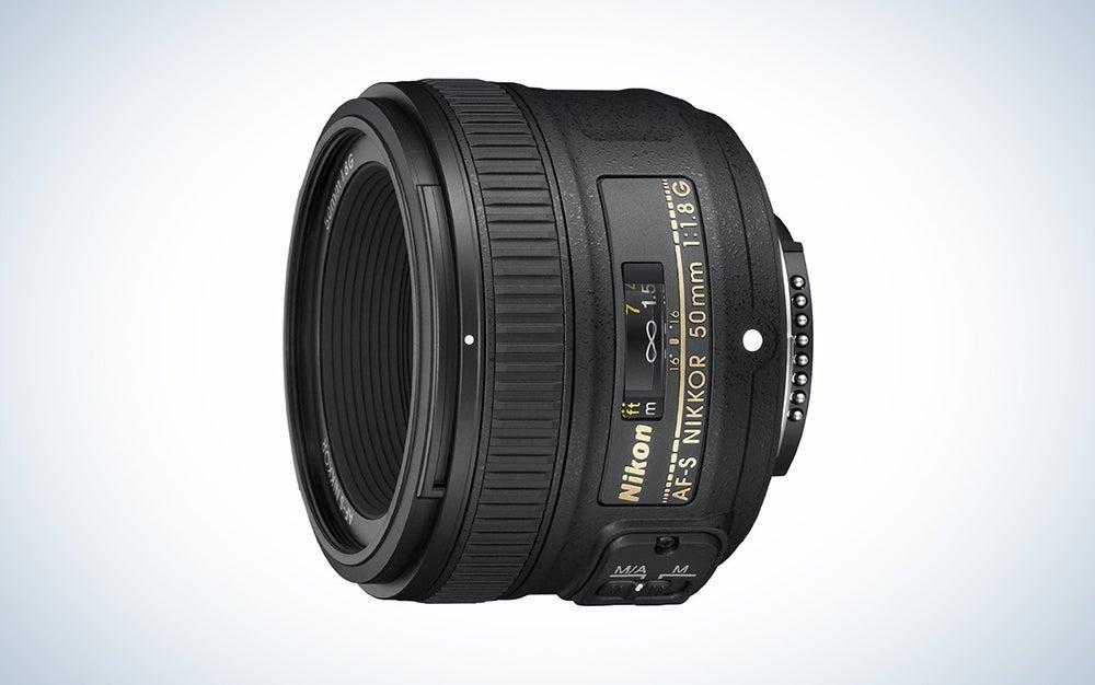 black nikon 50mm lens is one of the best Nikon portrait lenses