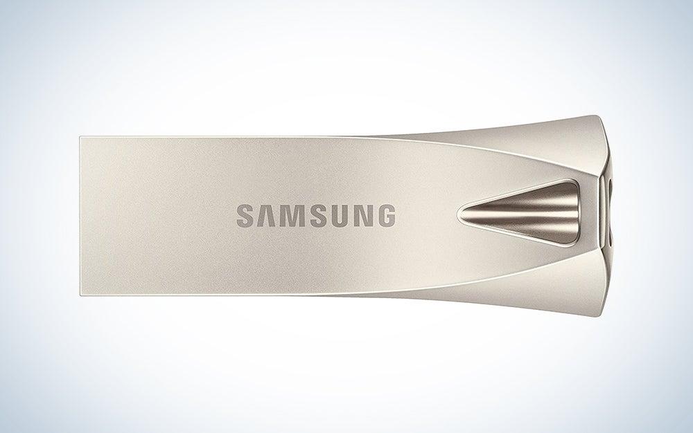 silver samsung flash drive