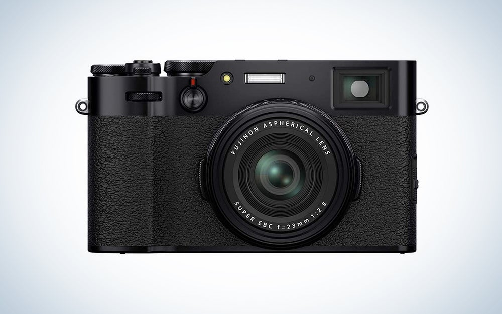 fujifilm black camera is a great Mother's Day gift
