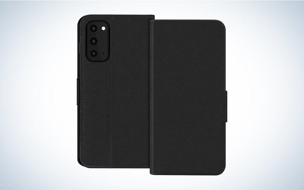 black folio android phone case