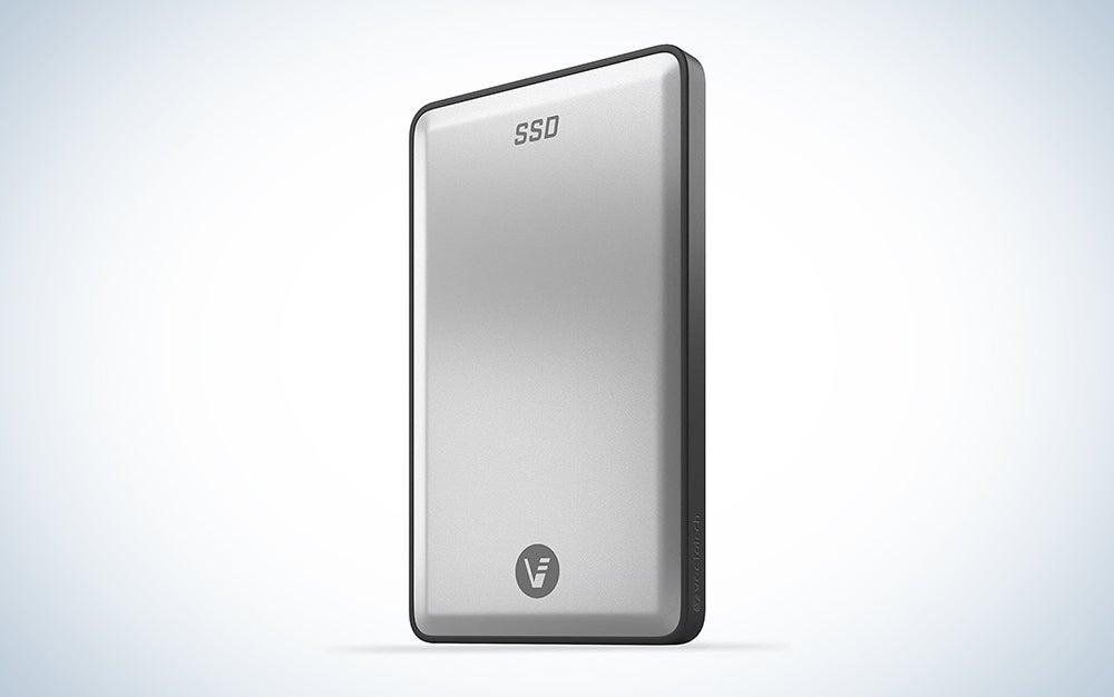 silver sdd external hard drive
