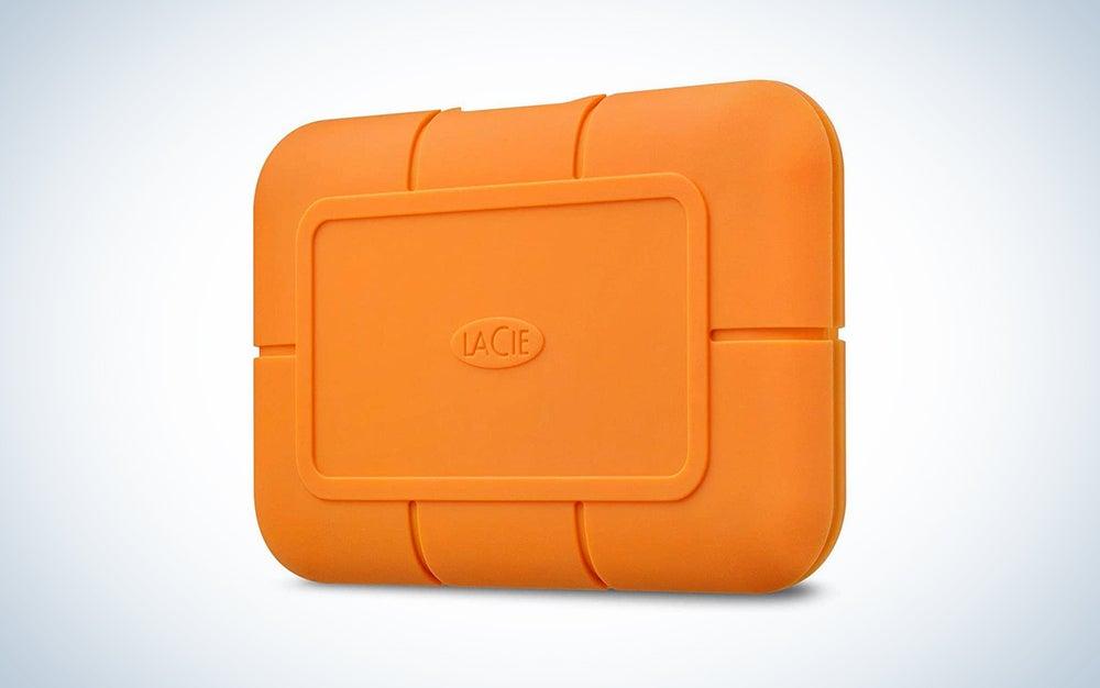 lacie orange ssd hard drive
