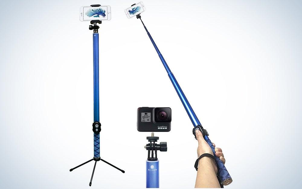 long reaching selfie stick