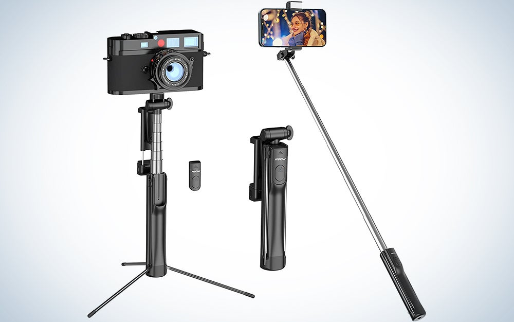 mpow selfie stick is the best selfie stick and tripod combo