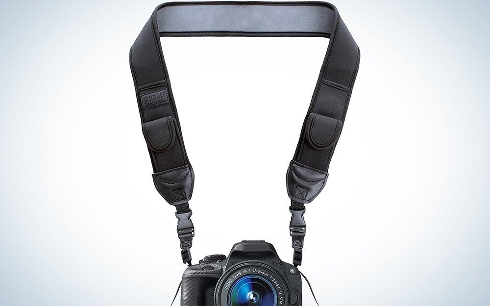 camera strap and camera