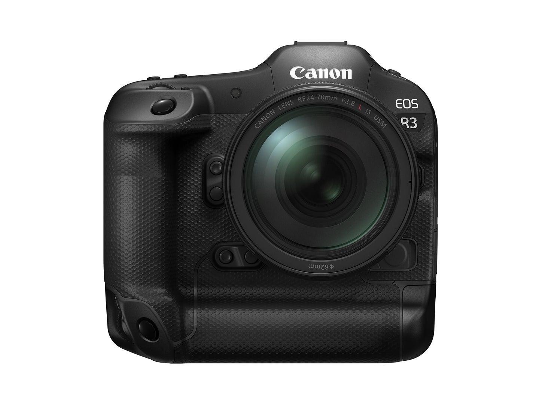 Canon EOS R3 professional mirrorless camera on white