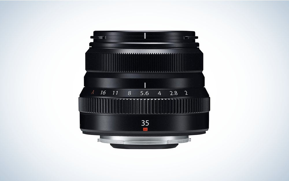 The Fujifilm XF 35mm F/2 WR Lens is the best cheap Fuji lens for portraits, under $400.