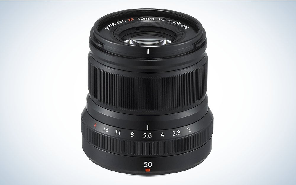 The Fujifilm XF 50mm F/2 WR Lens is the best travel-friendly Fuji lens for portraits.