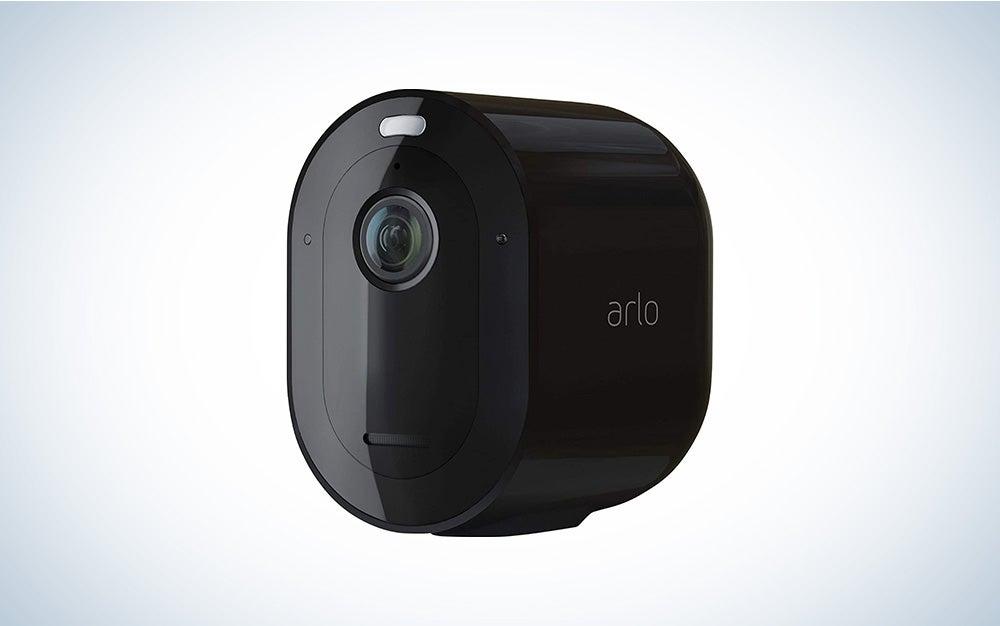 black arlo security camera