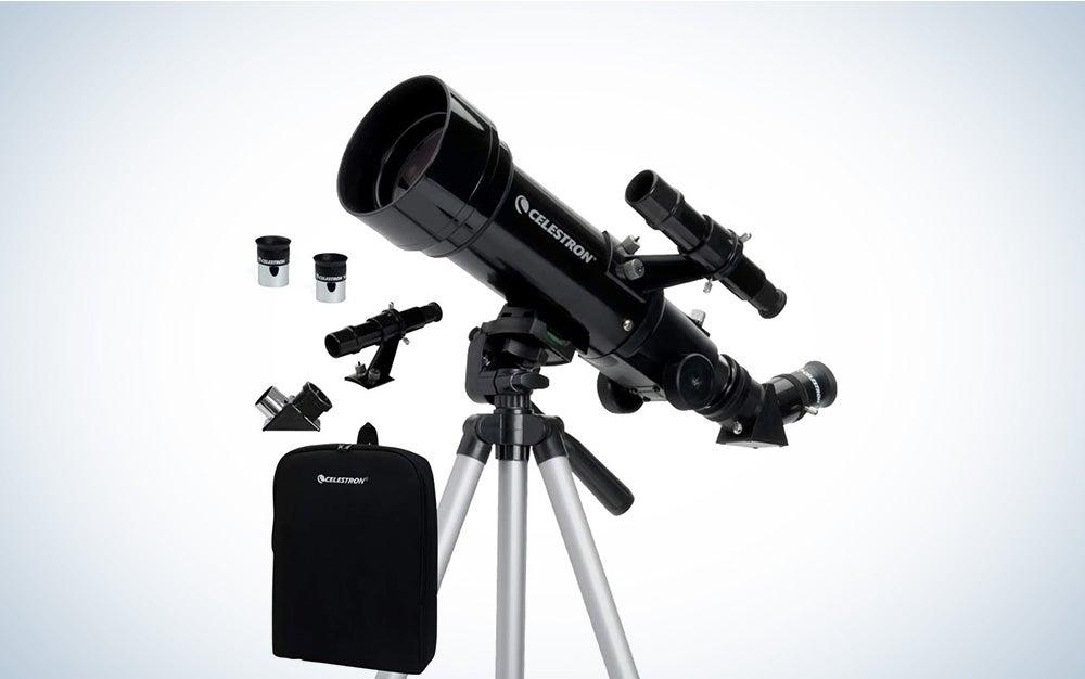 black celestron 70mm telescope