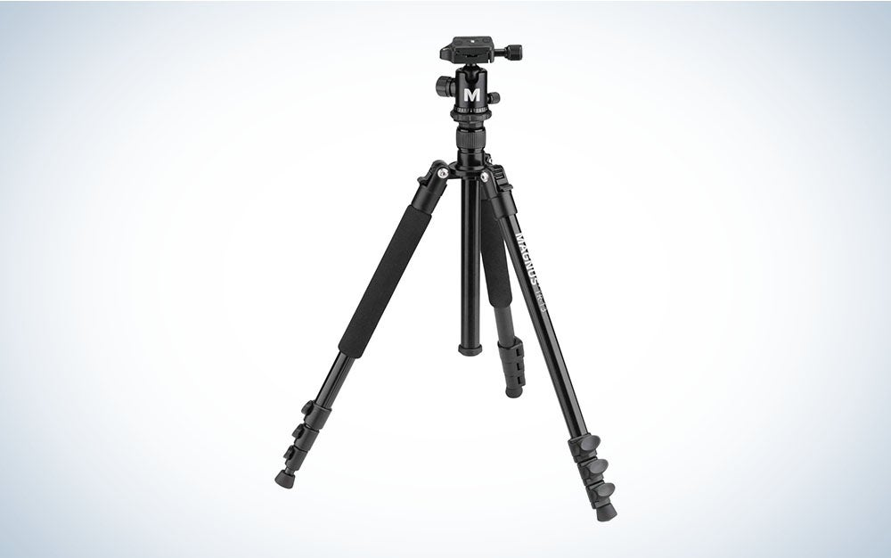 A straightforward black aluminum model that is the best travel tripod you can buy on a budget.