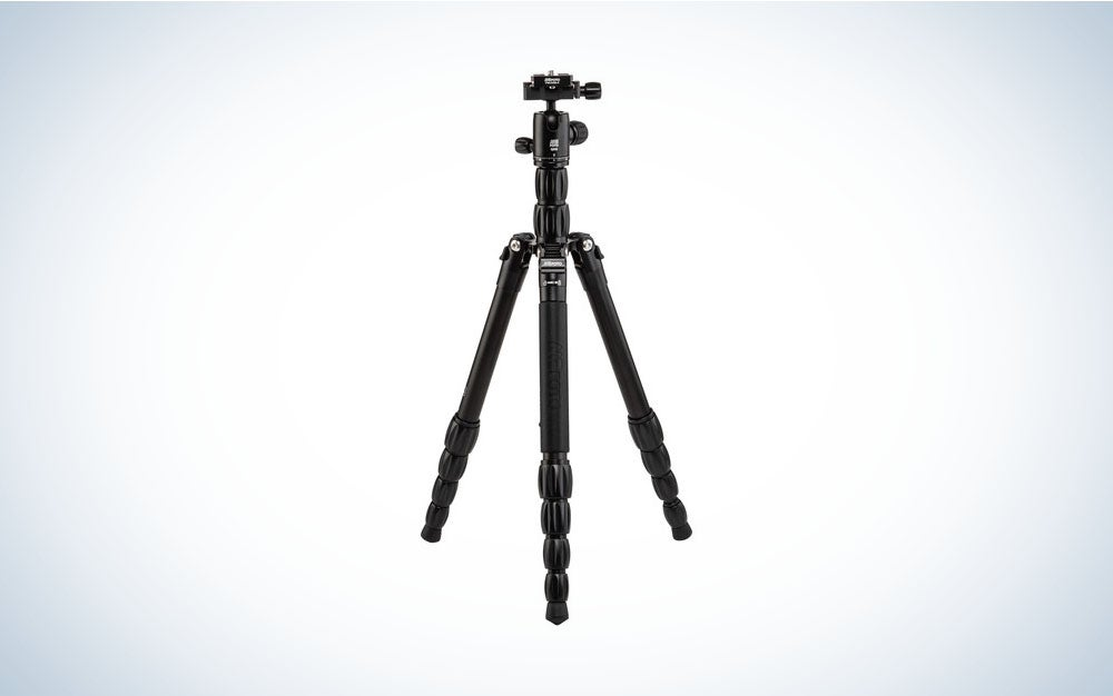 One of the best travel tripod models made from aluminum.