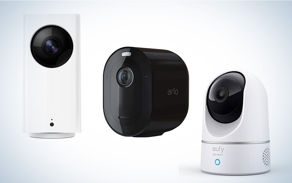 three security home security cameras