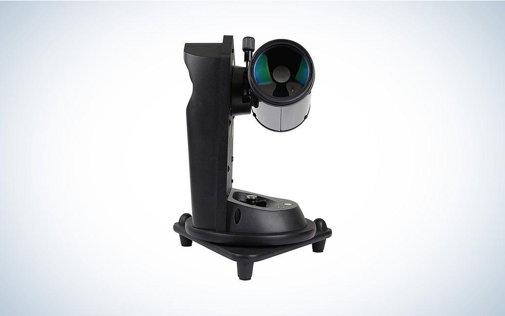 black sky-watcher telescope