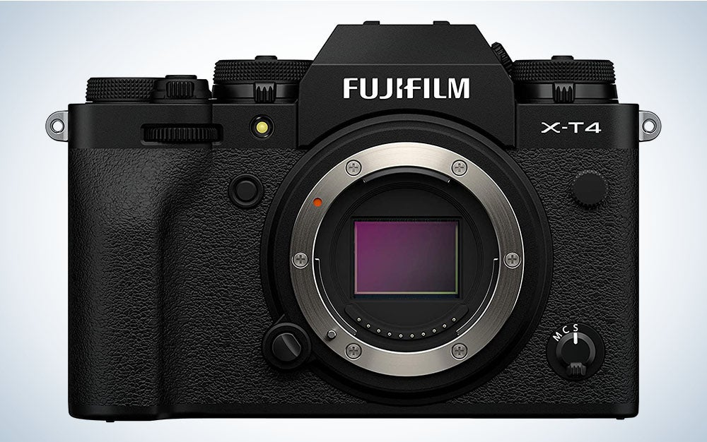 The Fujifilm X-T4 Mirrorless Camera is the best mirrorless Fujifilm camera.