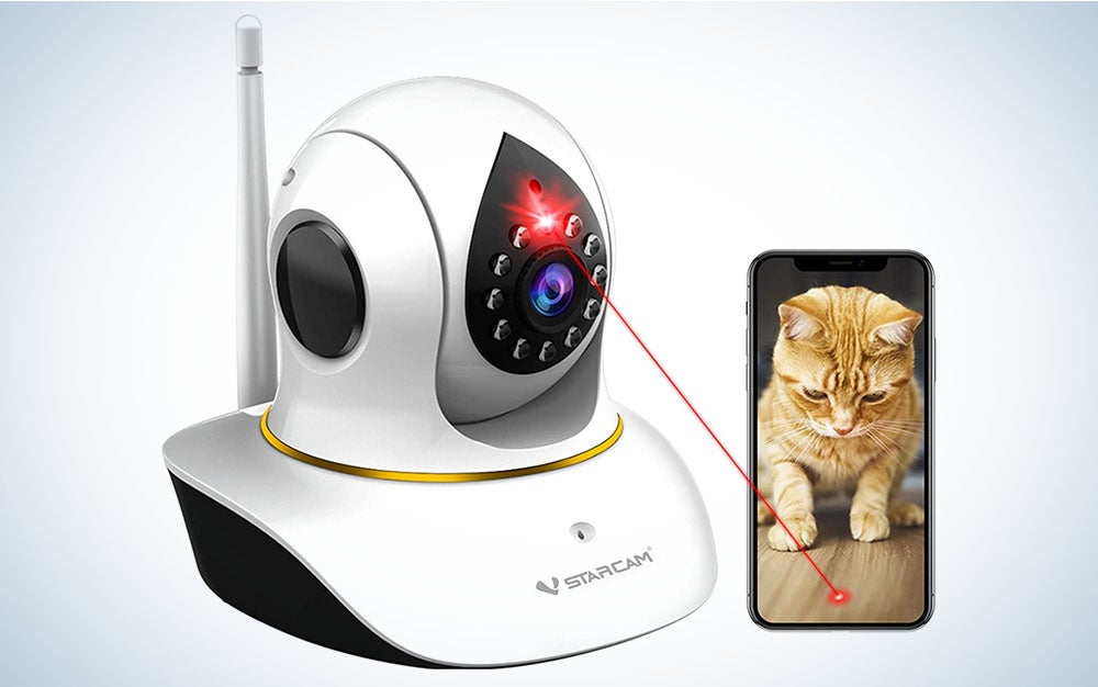 The VSTARCAM Cat Camera with Laser is the best cat camera.