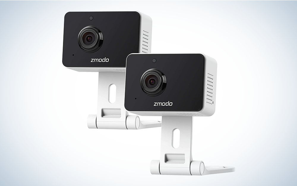 The Zmodo Mini Pro 1080p Indoor Home Security Camera is the best pet camera under $40.