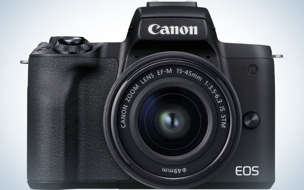 A black-bodied DSLR, like many Canon cameras.