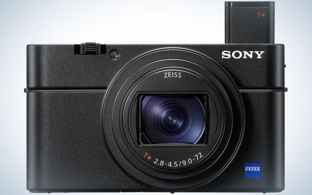 A black digital camera for beginners.