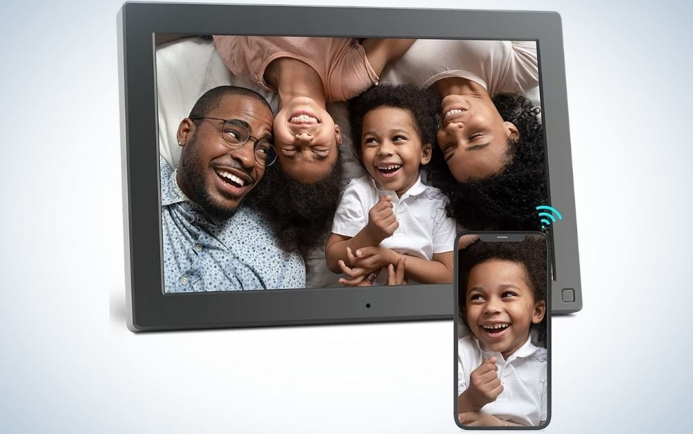 The BSIMB Digital Picture Frame is the best gift for sentimental dads.
