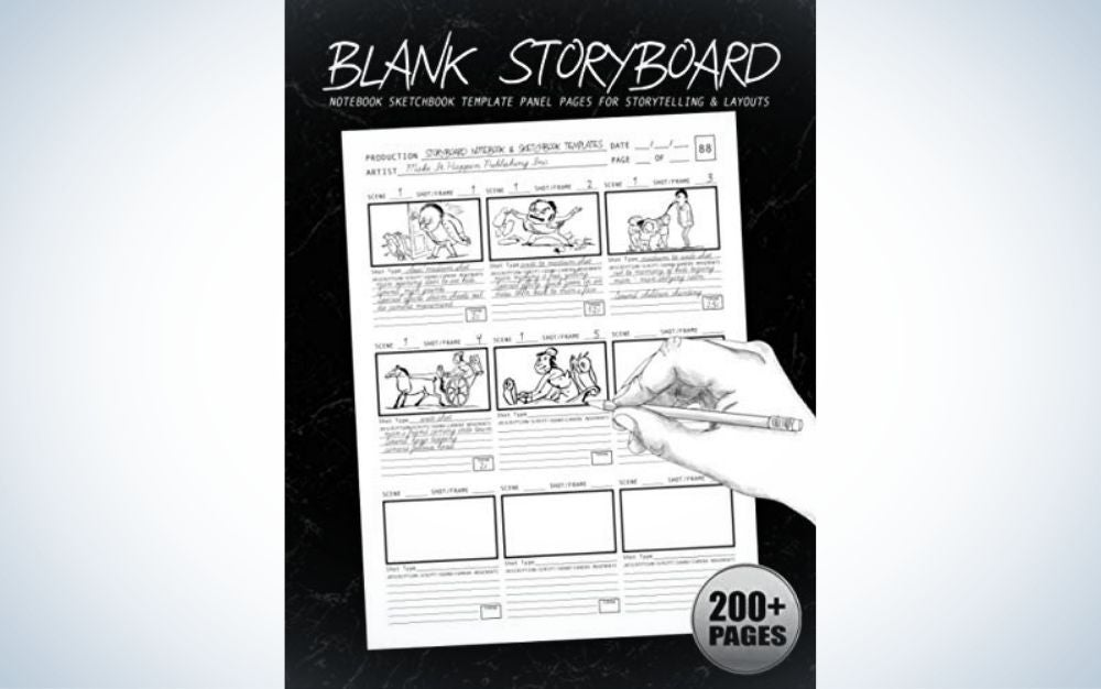 The Blank Storyboard Notebook is the best gift for planning your shoots.