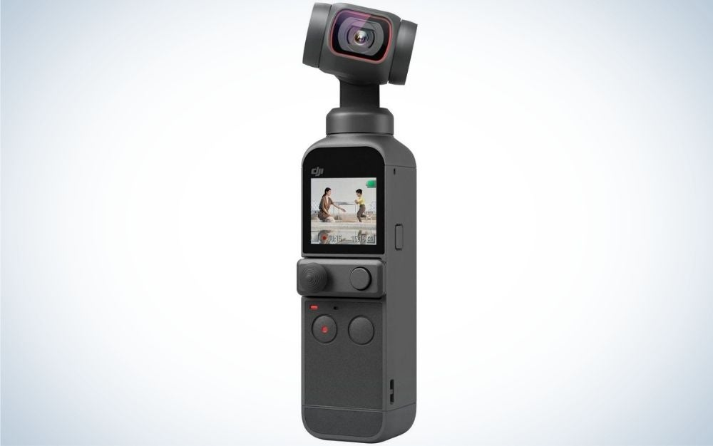 The DJI Pocket 2 handheld camera is the best gift for shooting on the move.