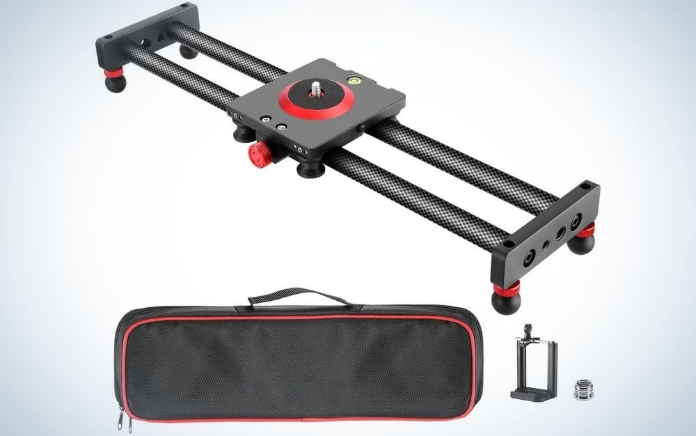 The Neewer Camera Slider is the best gift for making cinematic moves.