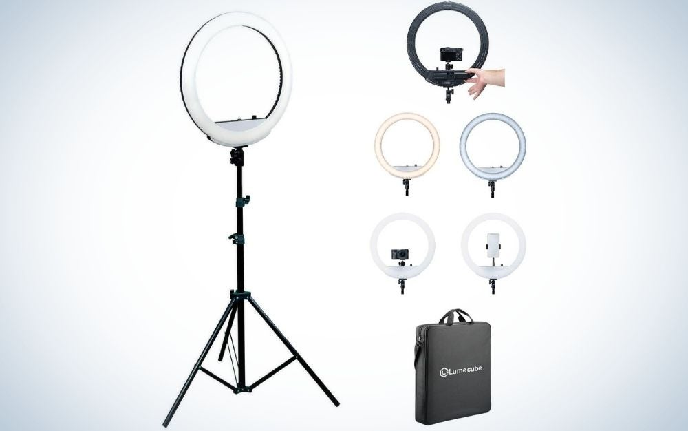Battery powered ring lights are great Father's Day gifts for photographers