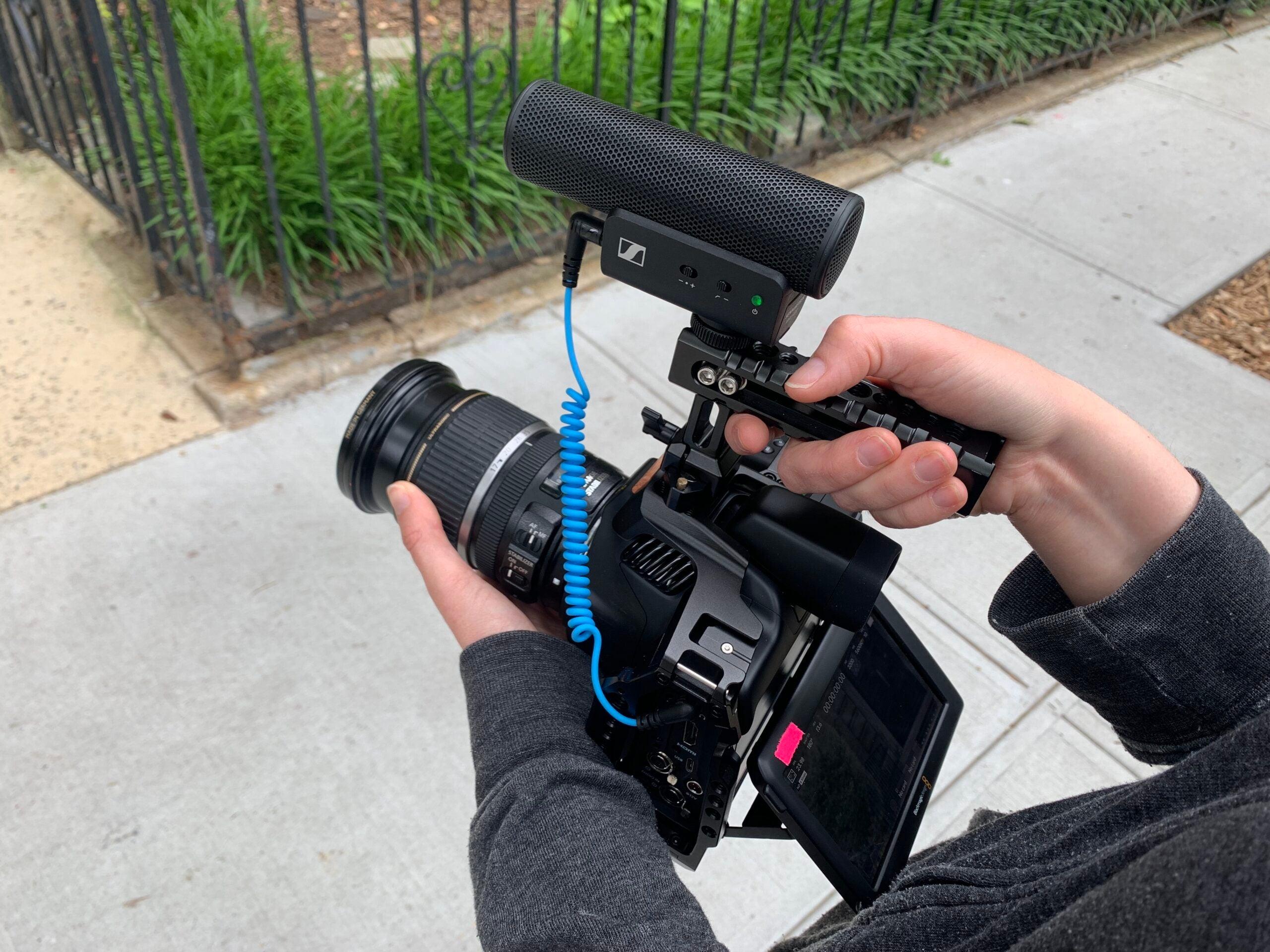 Sennheiser MKE 400 on a Blackmagic cinema camera